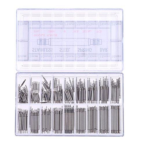 La Cabina 360PCS Montre Outils de Réparation - Kit Outils Réparation Professionnel D'horlogerie en Acier Inoxydable - Réparation Accessoires Kit 8–25 mm - Bande de Montre Réparation