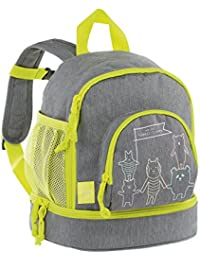 Lässig Mini Backpack About Friends mélange grey Mochila infantil, 27 cm, Gris (Grey)
