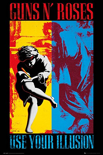 Guns N Roses - Illusion - Musik Heavy Metal Hard Rock ViP Poster Plakat Druck - Grösse 61x91,5 cm + 1 Ü-Poster der Grösse 61x91,5cm