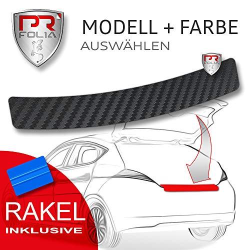 PR-Folia Ladekantenschutz - Golf 7 / VII Limousine (Typ AU ab 10/2012) - CARBON Schutzfolie inkl. Rakel Stoßstangenschutz Folie Autofolie