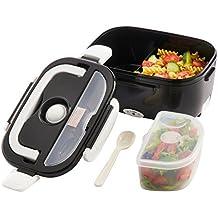 Kabalo Negro eléctrica portátil Compact calentador de alimentos almuerzo Bento Box 40W 1.5L UK