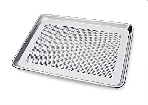 New Star 36718Einzelgerät Commercial Grade perforiert Aluminium halbe Größe Tabelle Pfanne, 13von 18 (Halb Blatt Pan Größe)