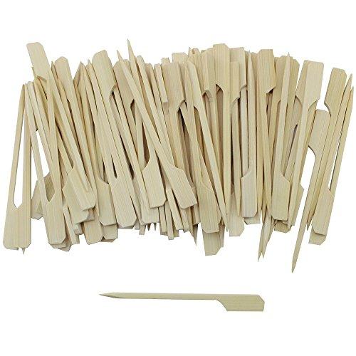 COM-FOUR 500x Fingerfood Spieße mit Grifffläche aus Bambusholz, ca. 9 cm - 2