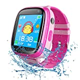 bhdlovely Kids Smartwatch Waterproof, GPS Tracker Phone Watch for Children Girls Boys