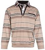 Langarm-Poloshirt für Herren von SOUNON - Beige (M4), Groesse: L