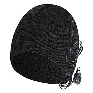 AWFAND Wiederaufladbare elektrische beheizte Mütze,3-Gang-Temperaturregelung, intelligente warme Mütze, Männer und…