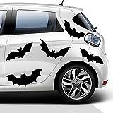Fledermaus Aufkleber Set , 10 Stück 18 cm Durchmesser für , Bad Fliesen Set Autoaufkleber oder als Vogelschutz , Fledermäuse