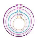 BESTIM INCUK - Bastidores de plástico para bordar, punto de cruz, DIY, manualidades, 5unidades, diferentes colores, 5diferentes tamaños