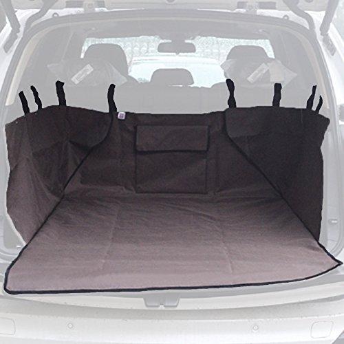 Kofferraumschutz, Wasserdicht Doppelt Zweiseite Verdickung Hundedecke Auto Abdeckung, Kofferraumschutzdecke mit Tasche kofferraumdecke Braun