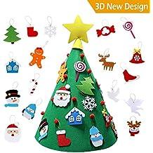 Cozywind 3D Arbol de Navidad de Fieltro, DIY Navidad Decoración Colgante Año Regalo ...