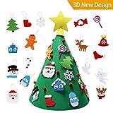 Cozywind Christmas Craft Kit Xmas Tree 3D Fai da Te Feltro Albero di Natale Toddler per Bambini Regali di Natale Natale Casa Decorazioni (Large)