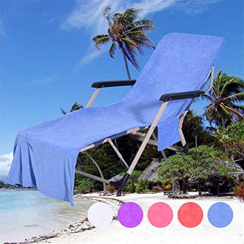 CaCaCook Strandhandtuch, Sonnenurlaub, Garten, Schwimmbad, Lounge, Tragetasche für Stühle blau