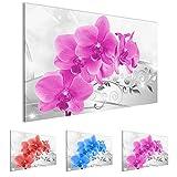 Bilder - Wandbild - Vlies Leinwand - 70 x 40 cm - Orchidee Bild - Kunstdrucke - mehrere Farben und Größen im Shop - Fertig Aufgespannt !!! 100% MADE IN GERMANY !!! - Blume Abstrakt 210714c