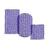 casa pura® Wanneneinlage Bubble | Bubble-Optik | lila-transparent | schadstoffgeprüft | als Badewanneneinlage und Duschmatte erhältlich | 3 Größen | quadratisch (54x54 cm)