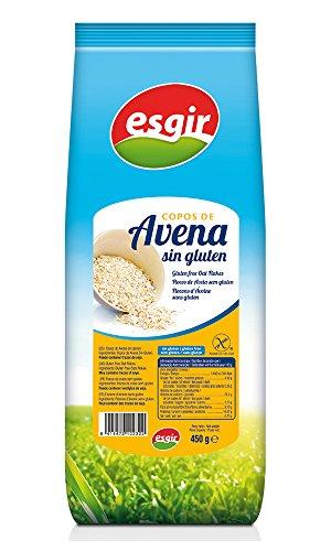 Esgir Copos de Avena sin Gluten - Paquete de 6 x 450 gr - Total: 2700 gr