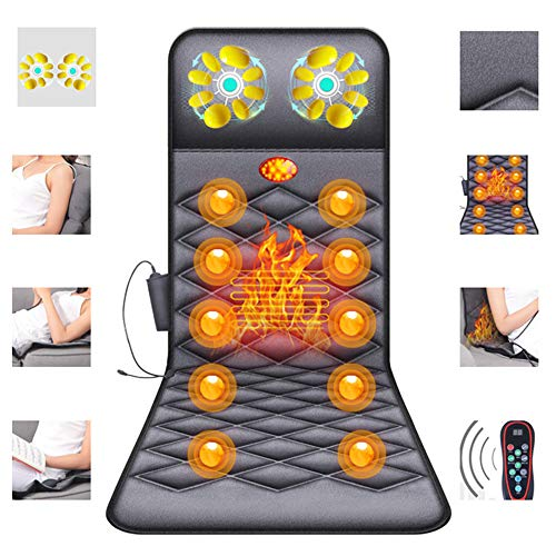 10 Motor-massage-matte (ZHHME Massagematte mit Wärmefunktion - Akupressur Massagegerät Massageliege Klappbar - 26 Massagekopf-Matratzenauflage für Nacken, Rücken und Beine gegen Müdigkeit und Schmerzen)