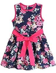 Culater® Faldas Del Partido Muchachas De La Princesa Sin Mangas Vestido De Flores