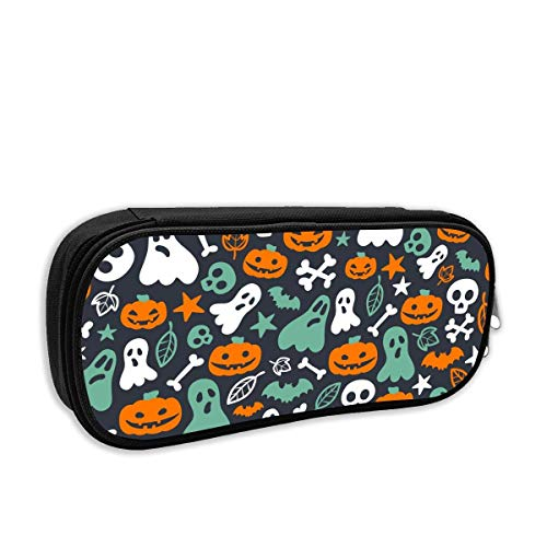 Happy Halloween Ghost Pumpkin Pencil Case Pouch Bag Multifunction Cosmetic Makeup Bag School Office Storage Organizer (Make-up Cat-girl Halloween)