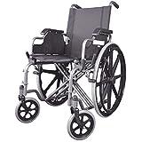Rollstuhl aus Stahl   Super leicht und mit Selbstantrieb   Modell Giralda   Wiegt nur 18,73 kg   Zusammenklappbar und praktisch   Top Verkäufe und hohe Qualität   Sitzhöhe: 49 cm, Sitzbreite: 43 cm, Rollstuhllänge: 107 cm   Mobiclinic