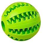AGIA Tex Hunde-Spielzeug für Zahnpflege | Leckerli-Ball, Hundeball | Mentaltraining & Spielspaß für Hunde | Snackball aus robusten Naturkautschuk 7 cm, Set 1 x Grün