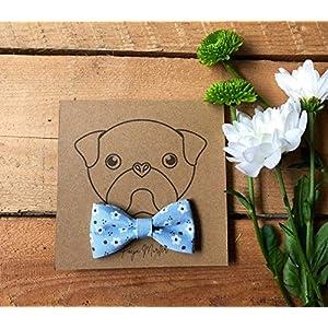 Geblümte Hundefliege | Schleife für Hundehalsband