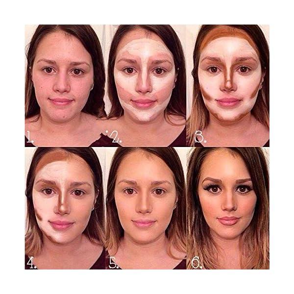 Anself Juego de Maquillaje Paleta de Correctores Paleta de Sombras de Ojos Face Contour Set de Paleta de Contorno…