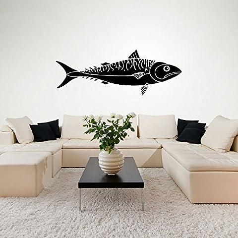 Animale Sgombro Pesce Wall Sticker Adesivo Art