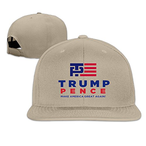 Hittings Unisex Trump Pence Make America Great Again Flat Baseball Caps Hats Natural