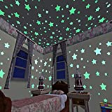 100pcs/bag Glow in the Dark Toys Luminous Star Stickers Bedroom Sofa Fluorescent Painting Toy PVC Stickers for Kids Room