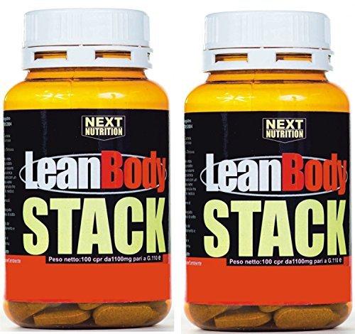 2 confezioni Lean Body da 100 cpr potente dimagrante termogenico