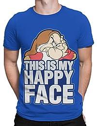 Disney Grincheux - T-Shirt à Manches Courtes - Grincheux - Homme