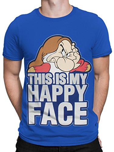 Disney Brummbär Herren Schneewittchen Brummbär T-Shirt Grumpy XX-Large