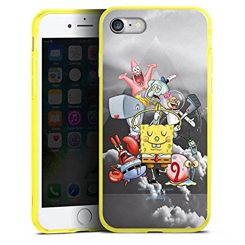 Apple iPhone 7 Silikon Hülle Case Schutzhülle Spongebob Fanartikel Merchandise Spongebob Crew Silikon Colour Case gelb