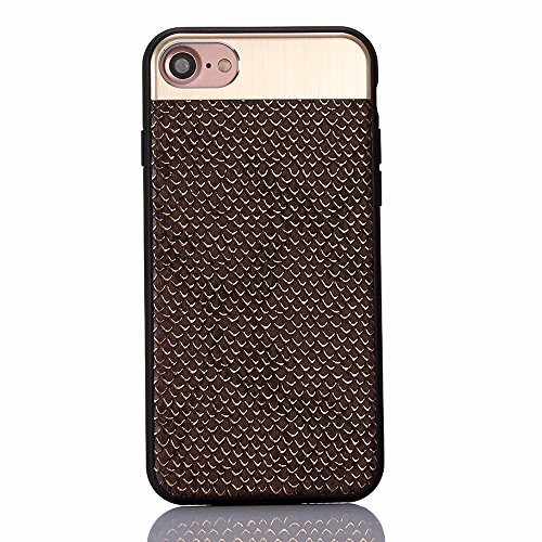 """Coque pour Apple iPhone 6/6s 4.7"""", CLTPY Placcatura Housse dans Doux Dual Layer Silicone Plastic Etui Protection Case Coquille pour iPhone 6,iPhone 6s + 1x Stylet - Or Noir 2"""