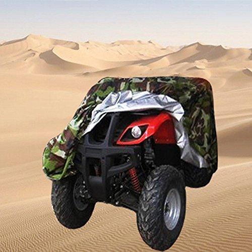 """HANSHI Camuflaje impermeable ATV Funda, Resistente Durable resistente al agua a prueba de viento de protección UV universal para la mayoría de motos hzc13, XL:83\"""" x 47\"""" x 45\"""" (210*120*115 CM)"""