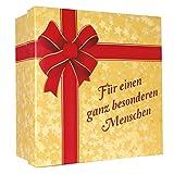"""Geschenk-Karton """"Für einen ganz besonderen Menschen"""" - XXL Geschenk-Schachtel für Valentinstag, Geburtstag, Jahrestag"""
