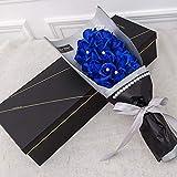 SED Flor Artificial-520 Día De San Valentín Romántico Perla Rosa Jabón De Flor Artificial Flor Enviar Novia, Azul,como se Muestra