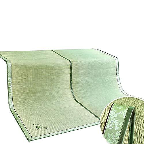 ZHAOHUI Estera De Bambú Carbonizado Verano Almohadilla para Dormir Paja Guay Cómodo Respirable Habitación, 2 Estilos, 9 Tallas (Color : A-2x2.2m)