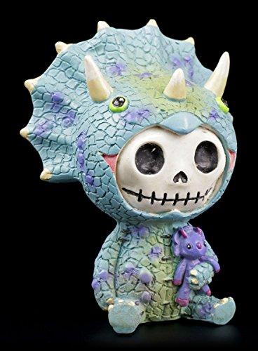 Furrybones Figur | Triceratops Dinosaurier | inkl. Geschenkbox für Sammler | Lustige Deko Totenkopf (Furry Ideen Kostüm)