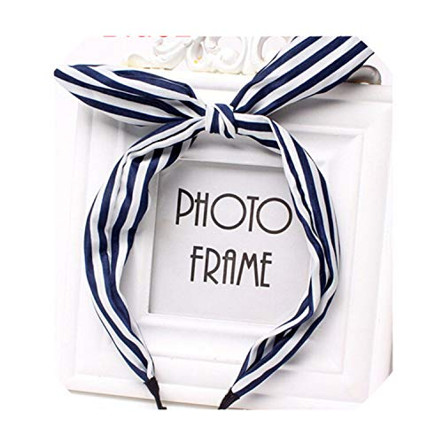 1Pc Metal Wire Scarf band Hair Band Accessories Leopard Dots Lip Print Flower Ear Ribbon wear Hairband NB1