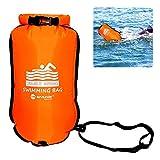 raninnao Waterproof Beach Bag Boya De Natación para Aguas Abiertas con Bolsa Estanca, Resistente al Desgaste de Nylon Resistente a la Rotura de PVC Adaptable