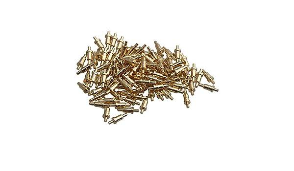 L/änge 6 mm RDEXP Pogo-Pin Durchmesser 0,8 mm 100 St/ück Federdruckpr/üfer