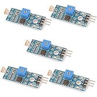 Gaoxing Tech. 5PCS LM393 Sensor sensible sensible óptico de la sensibilidad del sensor de la resistencia de la detección de la luz para el perno 3 de Arduino
