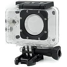 Qumox S068U - Caja para cámara deportiva Qumox SJ4000, transparente