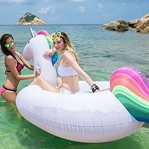 Gonfiabile gonfiabile Unicorno galleggiante, aria piscina materasso piscina galleggiante piscina galleggiante PVC per piscina piscina inflating airbeds giocattoli