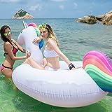Inflable Gigante de Unicornio Flotador de Helado para piscina,balsa de la fiesta de la piscina, colchón de aire inflable del PVC Piscina La cama flotante