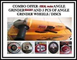 IDEAL make Angle Grinder IDAG 801 (4 inch) 850 Watts+ 5PCS OF WHEELS/DISCS