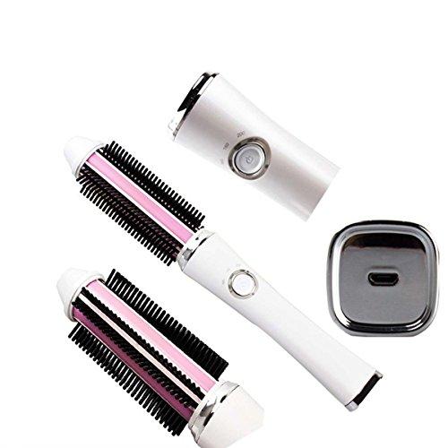 Art und Weise Keramischer Gerader Haarkamm USB, der Rolle Gerade Doppelgebrauchshaarkamm Lädt