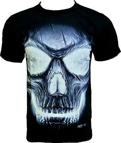 rock-chang-t-shirt-illuminated-skull-glow-in-the-dark-lueur-dans-lobscurite-noir-black-gr-538-s-m-l-