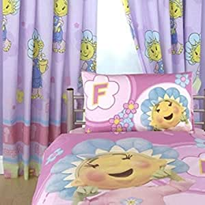 """FIFI AND & THE FLOWERTOTS BEDROOM CURTAINS SET 66 X 54 """" INCHES MATCH DUVET NEW"""